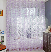 Country Style Leaf Tassel Drape Room Window Vestibule Door Wall Panel String Curtain for Home Hotel Office