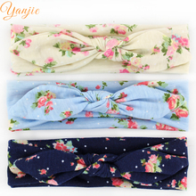12pcs/lotChic Hot-sale Kids Floral Printed Bunny Elastic Headband High-quality Infantile Rabbit Ear Headwrap New Arrival Bandeau(China)