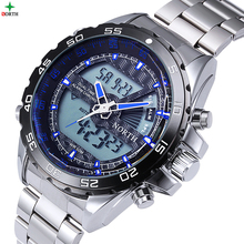 2017 Luxury Brand New Men Watch With Logo Tag LED Electronic Watch Diving Horloges Mannen Sports Wristwatch Men Digital-Watch(China)