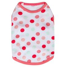 spring summer Dog Vest Polka Dot Cotton Jersey Vest Pet Clothing Supplies for Small Dogs magliette per cani piccola taglia