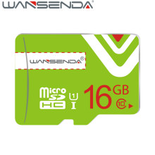 Hot sale Green Memory Card Wansenda Micro SD Card Class 10 8gb 16gb 32gb TF Card H2testw Tested for Smartphone free shipping