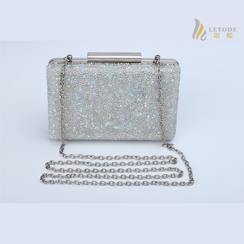 Rhinestone diamond-studded party evening bags 2017 brand luxury banquet white Wallet chain clutch bag Wedding Purse handbags<br>
