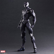 SQUARE ENIX Play Arts KAI Black Spiderman PVC Action Figure Collectible Model Toy 28cm KT2899