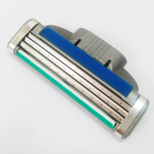 Buy 4pcs/set 3 Razor Blades Men Trimmer Shaving Razor Men 3 Blade Replacement Shaver Head Cassette Blue Green Shaving Face for $3.49 in AliExpress store