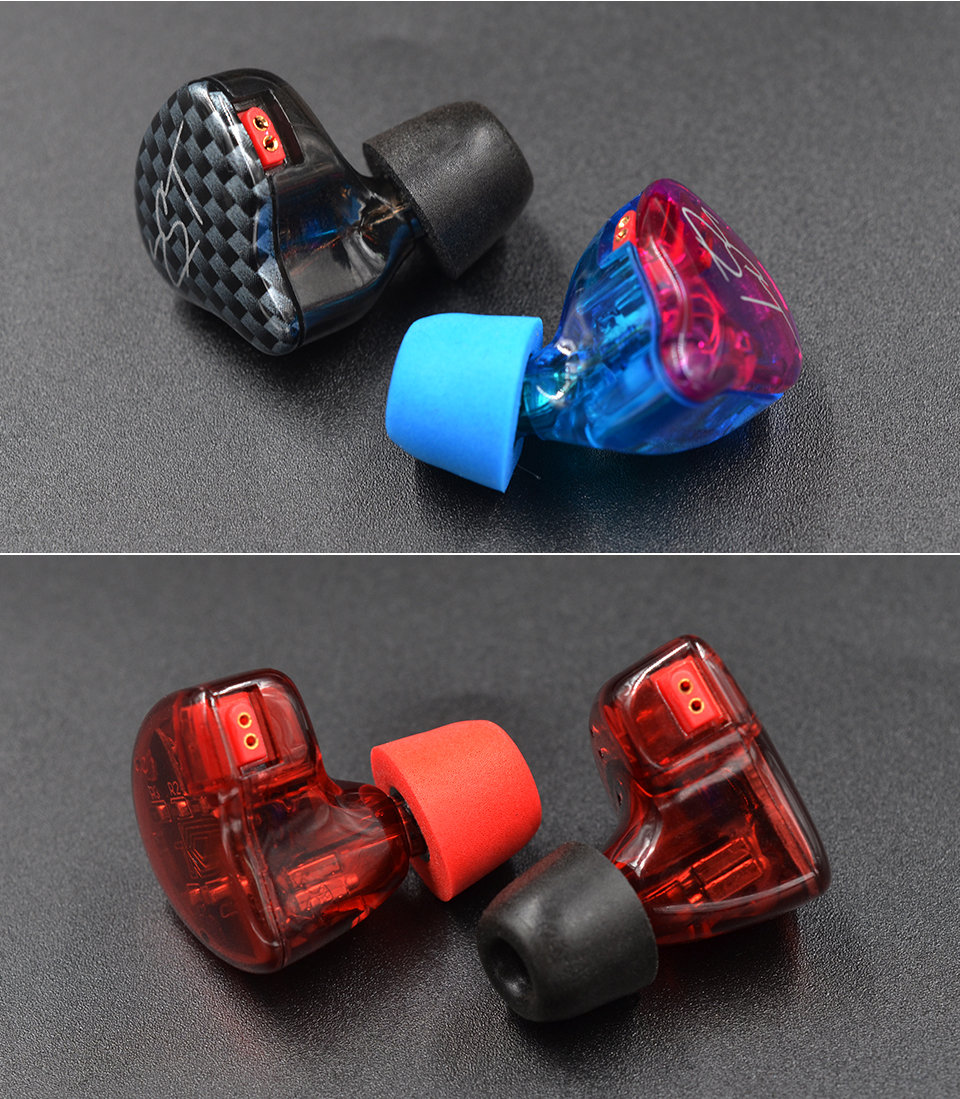 KZ_New_Upgrade_Original_3Pair_(6pcs)_Noise_Isolating_Comfortble_Memory_Foam_Ear_Tips_Ear_Pads_Earbuds_For_In_Earphone_Headphones_Red_Blue (12)