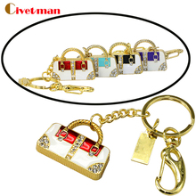 retail jewelry keychain crystal luxury hand bag usb flash drive 8GB pen drive 16gb memory stick 32gb flash drive free shipping