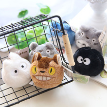 Cute Mini Totoro Plush Toy Japanese Anime Plush Keychain Stuffed Soft Cat Doll KidsToy Home Decorative 8cm 6 Style