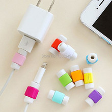 10pcs/lot Universal Smartphone USB Wire Earphone Wire Cable Protector for Apple iPhone Cable Winder(China)