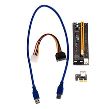 Reliable hot PCI-E Express Powered Riser Card W/ USB 3.0 extender Cable 1x to 16x Monero pci-e riser