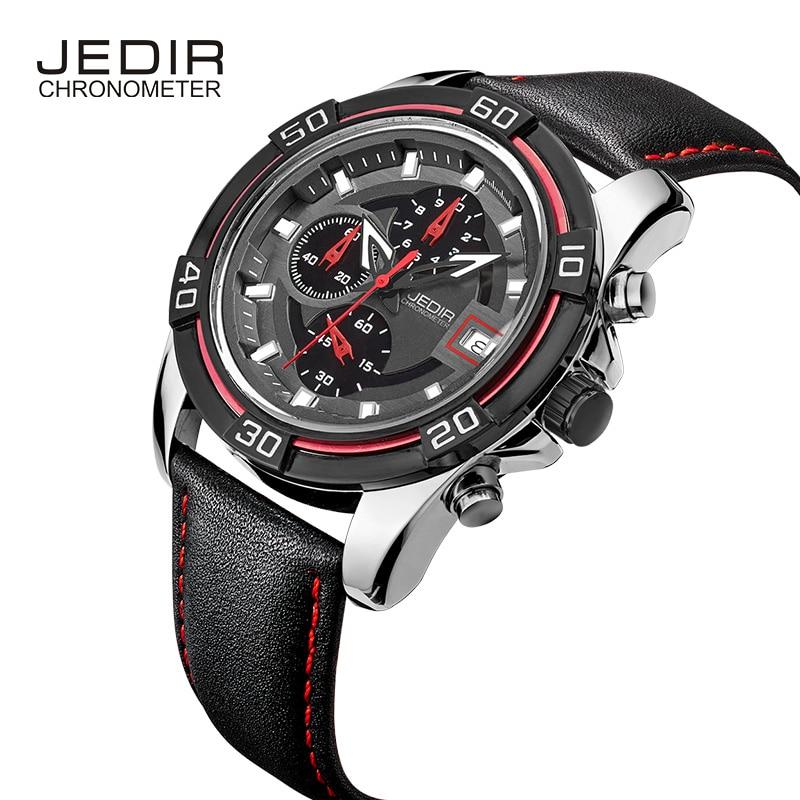 JEDIR Mens Watches Top Brand Luxury MenS Sport Chronograph 6 Hands Date Function Casual Quartz Watch Diver Hour<br>