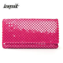 12 Colors Dazzling Sequins Evening Bag Ladies Clutch Purse Ladies Party Handbags Women Envelope Flap Bags Sequined Long Chain