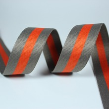 Grey Orange 38mm 50mm 25mm wide net ribbon 48 yards twill Striped Webbing polyester for sewing Bag Handles decoration