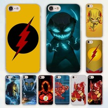Comic Book Collages flash man logo design hard clear Case Cover for Apple iPhone 7 6 6s Plus SE 4s 5 5s 5c Phone Case