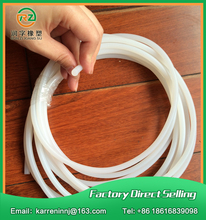 10meters diamter 4mm silicone rubber cord lighting sealing rubber cord industrial sealing strip milky white silicone rubber rod(China)