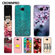 CROWNPRO Huawei Honor 5C Case Cover NO Fingerprint Hole FOR RU Soft TPU Painting Back Protective Fundas Huawei Honor 5C Case