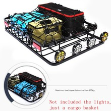 Universal Car Roof Rack Bar Cargo Basket 136x100cm for all SUV Models Cargo Luggage Carrier Roof Racks(China)