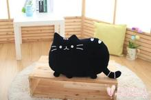 about 40x30cm cartoon black cat pillow plush toy soft cushion, throw pillow Christmas gift h708
