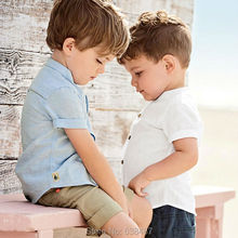 Quality 100% Cotton New 2017 Summer Baby Boys Shirt Kids Children Clothing Tee Short Sleeve Shirts Baby Boys Clothes Summer Tops(China)
