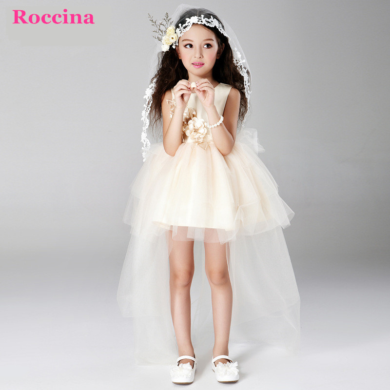 3-8Y Children Dress Wedding Party Girls Princess Dress Kids Costume Tutu Baby Dress Christmas Trailing Wedding Vestido Menina<br><br>Aliexpress