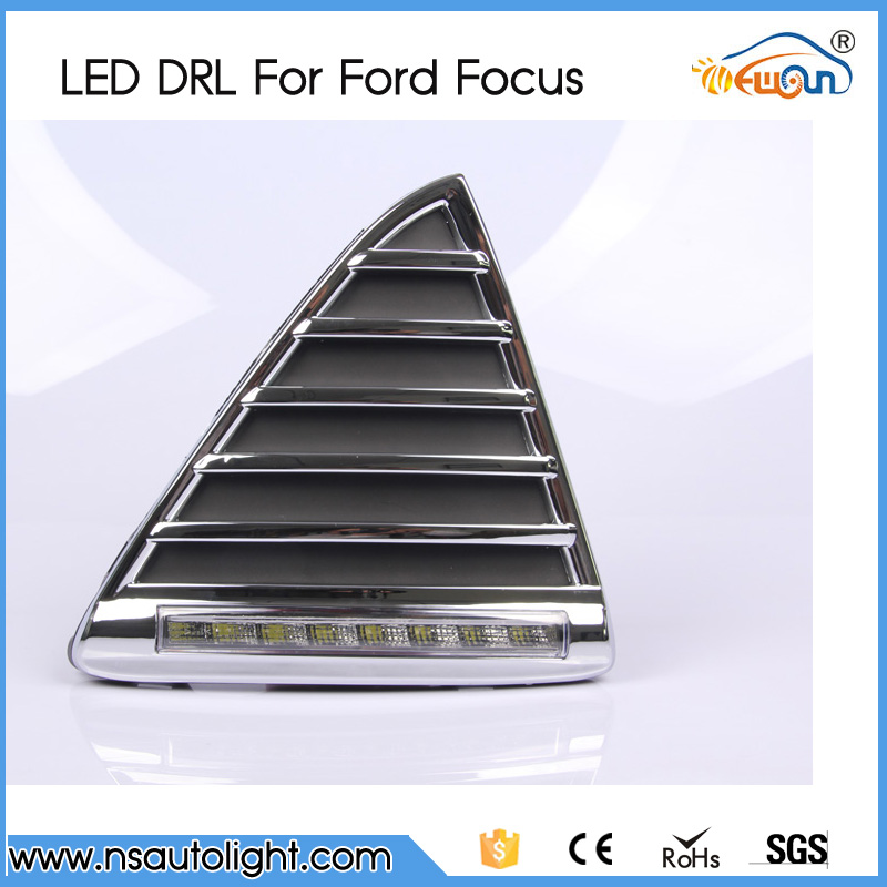 One pair DRL 8W 12V led daytime lighting day driving lamps running lights fog lamps for Ford Focus 2012<br><br>Aliexpress