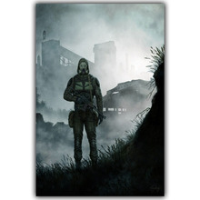 Living Room Home Wall Decoration Silk Fabric Poster S.T.A.L.K.E.R. 2 Call of Pripyat Radioactive Video Games YX1218