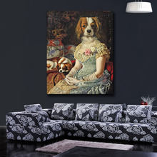 home decor humor dog animal modern abstract art wall pictures printed canvas oil painting for living room No Framed(China)