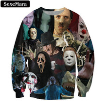 SexeMara 2017 Horror Avatar Printed Sweatshirt Autumn Vintage Casual Youth Popular Gothic Pullover Long-Sleeved Loose Tops F1316