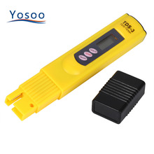 1 Pcs Digital LCD Water Quality Testing Pen Purity Filter TDS Meter Tester 0-9990 PPM Temp Portable Yellow