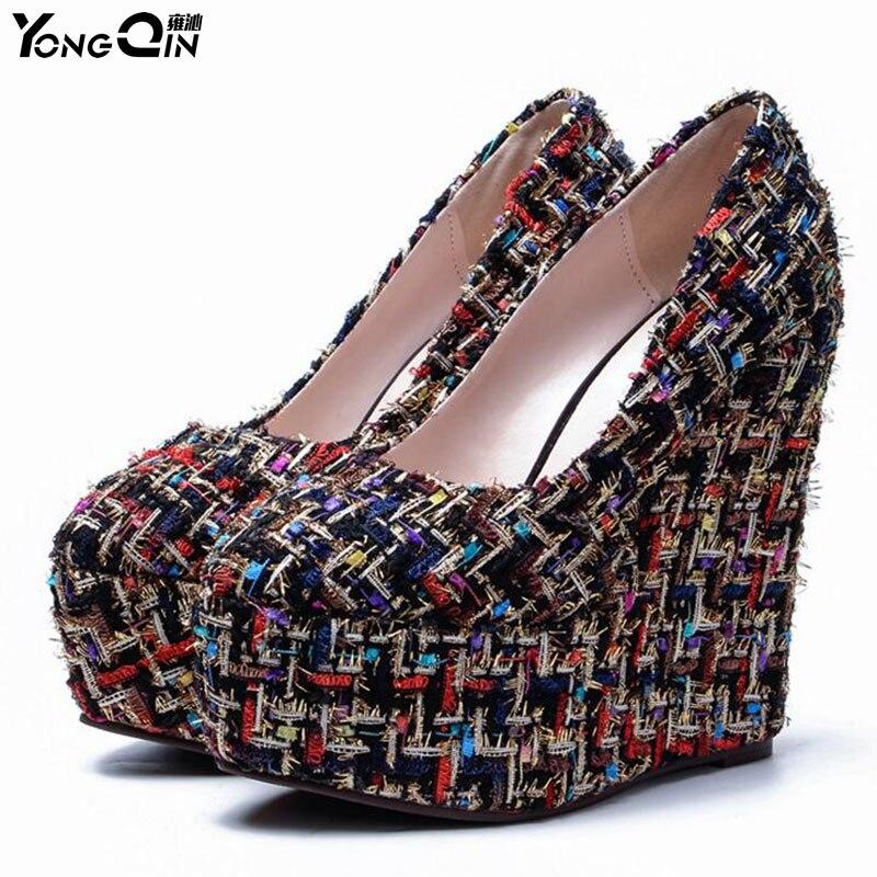 Spring Autumn Office Lady Shoes Women Wedges Pumps High Heels  Shoes Woman Shoes Ladies Pumps SIZE 34-43<br>