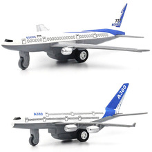 1:64 Alloy model Metal Material aircraft Airbus A380 Boeing 777 kids toys Back to power Decoration worth collecting