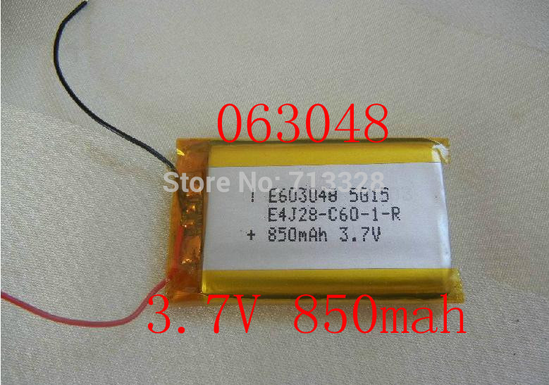 Size 063048 3.7V 850mah Lithium polymer Battery with Protection Board For MP4 MP5 PSP GPS Digital Products Free Shipping<br><br>Aliexpress