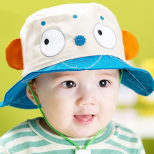 Free shipping 2017 new children's cartoon spring and summer hats for toddlers, baby girls sun hat,  bucket panama hat for kid
