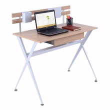 Giantex Wood Top Computer Desk Modern Student Study Writing Laptop Table Workstation with Drawer Home Office Furniture HW52846(China)