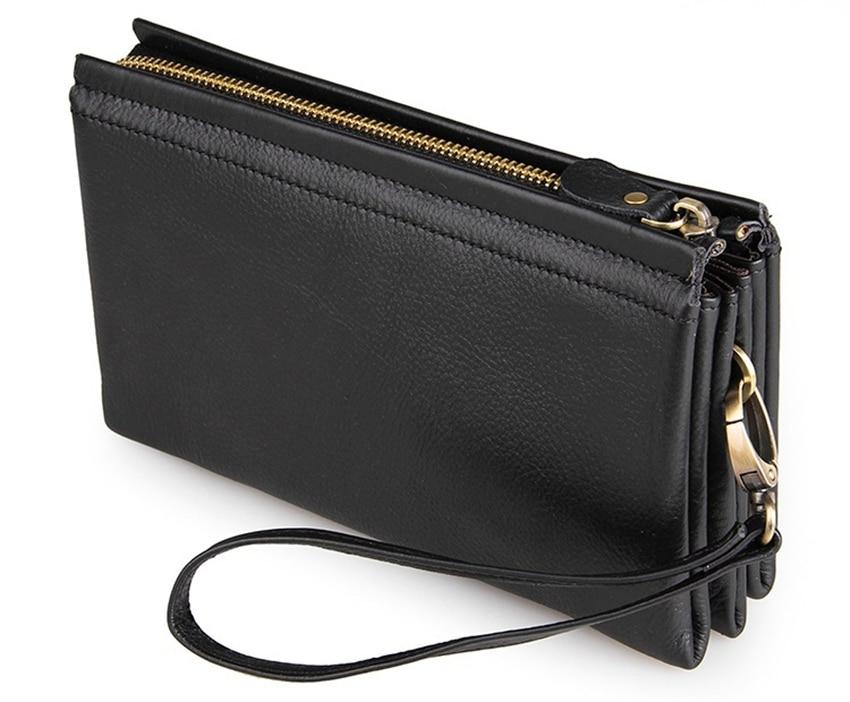 WERICHEST  2017 Genuine Leather Men Wallets New Man Wallet Zipper Men Purse Fashion Male Long Wallet Mans Clutch Wallets<br>