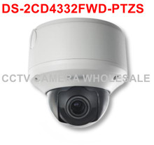 Free shipping DS-2CD4332FWD-PTZS 3 MP Smart PTZ Outdoor Dome IP security Camera support SD card recording