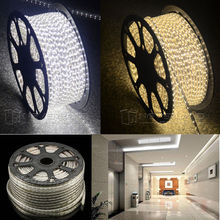 TNT FreeShip Waterproof 220V IP67 100M 60 LEDs/ meter Ultra Bright Flexible 5050 SMD LED Outdoor Garden Home Strip Rope Light(China)