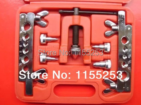 Brake &amp; Air Line Double Flaring Tool 7pc Kit Water Gas Line Automotive Plumbing<br>