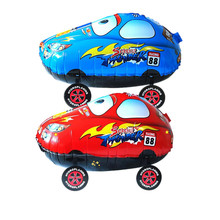 New Style Red blue Cars Cute Cartoon Foil Balloons Hot Toys Walk The Car Toy for Baby Shower Children Birthday Party Decorations