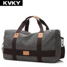Buy KVKY New Vintage Men Canvas handbag High Travel Bags Large Capacity Women Luggage Travel Duffle Bags Folding Bag bolsas for $23.09 in AliExpress store