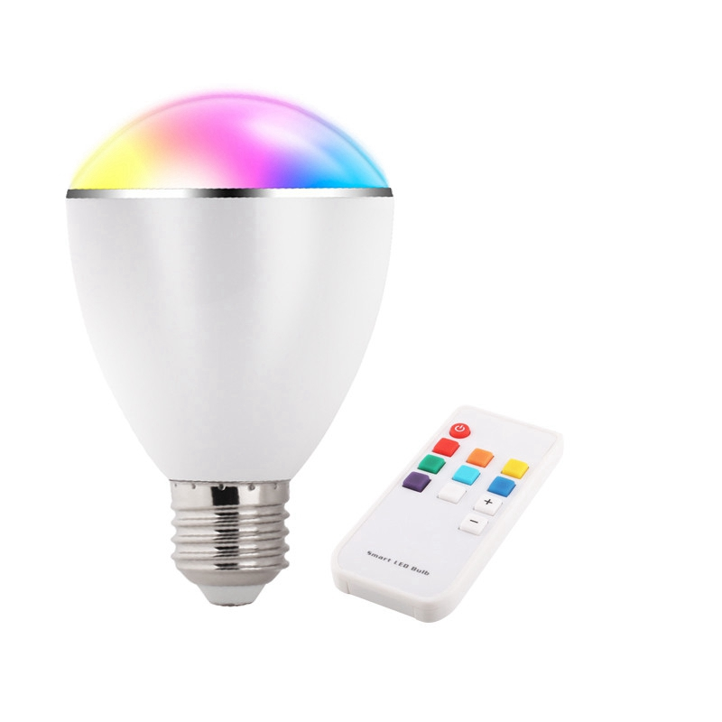 Novelty Lights 8 Colors Changeable E27 Wireless Bluetooth Speaker RGB Color Smart LED Light Bulb with Remote Control Lamp Light<br><br>Aliexpress