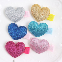 2017 new Rainbow color HEART combination BARRETTES Girl CLIP LONG 40MM hair accessories for kids XA03(China)
