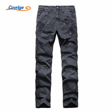 Covrlge Cargo Pants Men Sweatpants Fashion Tactical Clothing 100% Cotton Work Wear Men's Trousers with Pockets Overalls MKX010