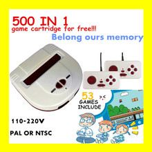 HAMY TV Game Player and dendy video game console+53 classic games include+500 games play card+PAL or NTSC can choose+110v-220v