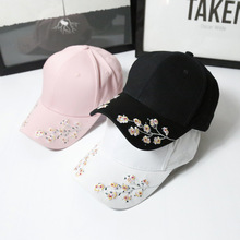 New  Baseball Caps Women Snapback Cap Flower Summer Embroidery Curved Spring Snapback Caps Men Trapback Hip Hop Hats Bone