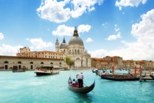Home Decoration landscape Venice Boats Buildings rivers canal people cities fabric poster print  (Accept customization )506FJ