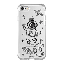 AXBETY Universe Space Case For iPhone 7 Case Airship Astronaut UFO Moon Cover For iPhone7 8 Fashion Silicone Gel Fundas Cases(China)