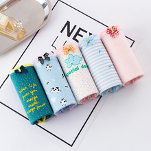 Buy Women's Panties Cotton Stripes Dot Print Gril Briefs Female Underwear Women Sexy Lingerie Ladies Underpants Lenceria Mujer 2018