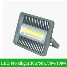 LED Floodlight 30W 50W 70W 100W Waterproof IP66 85-265V Warm/Cool White Outdoor Lighting Super Brightness Refletor LED Lamp(China)
