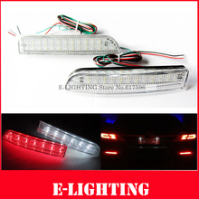 2XClear Lens LED Rear Bumper Reflector With Tail Brake Light Parking Warning Lamp For Toyota Rav4 and Scion xD
