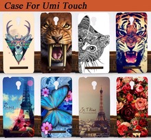 Damask 14 Stylish case For UMI Touch COOL Painting Cute Animals Design Cat Giraffe etc. Stand Function case cover For Umi Touch(China)